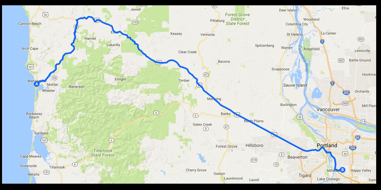 Day 25 – Nehelam Bay to Portland, Oregon (150 KM)