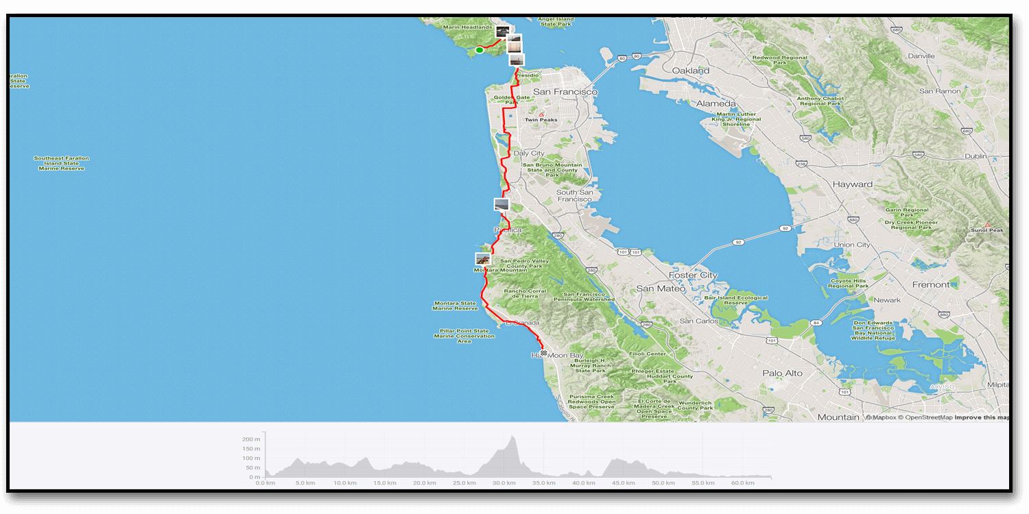Day 32 – Samuel Taylor State Park to Marin Headlands Hostel (48 KM)