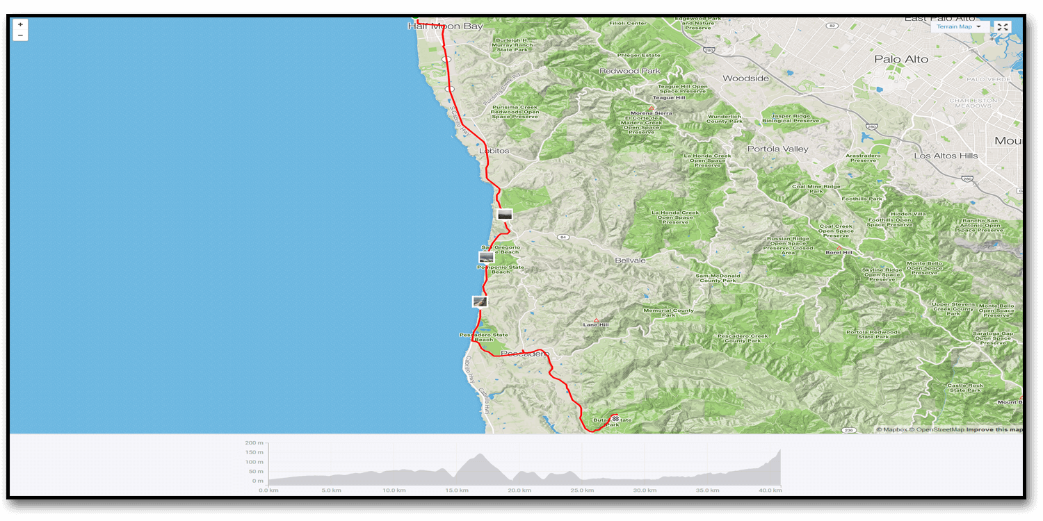 Day 33 – Marin Highlands to Half Moon Bay State Beach